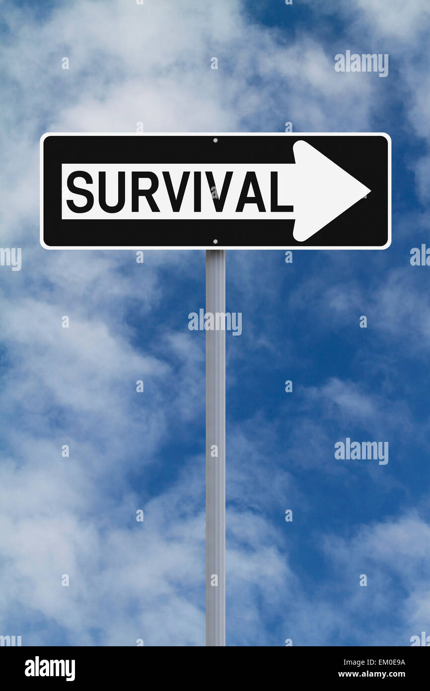 This Way To Survival - Stock Image