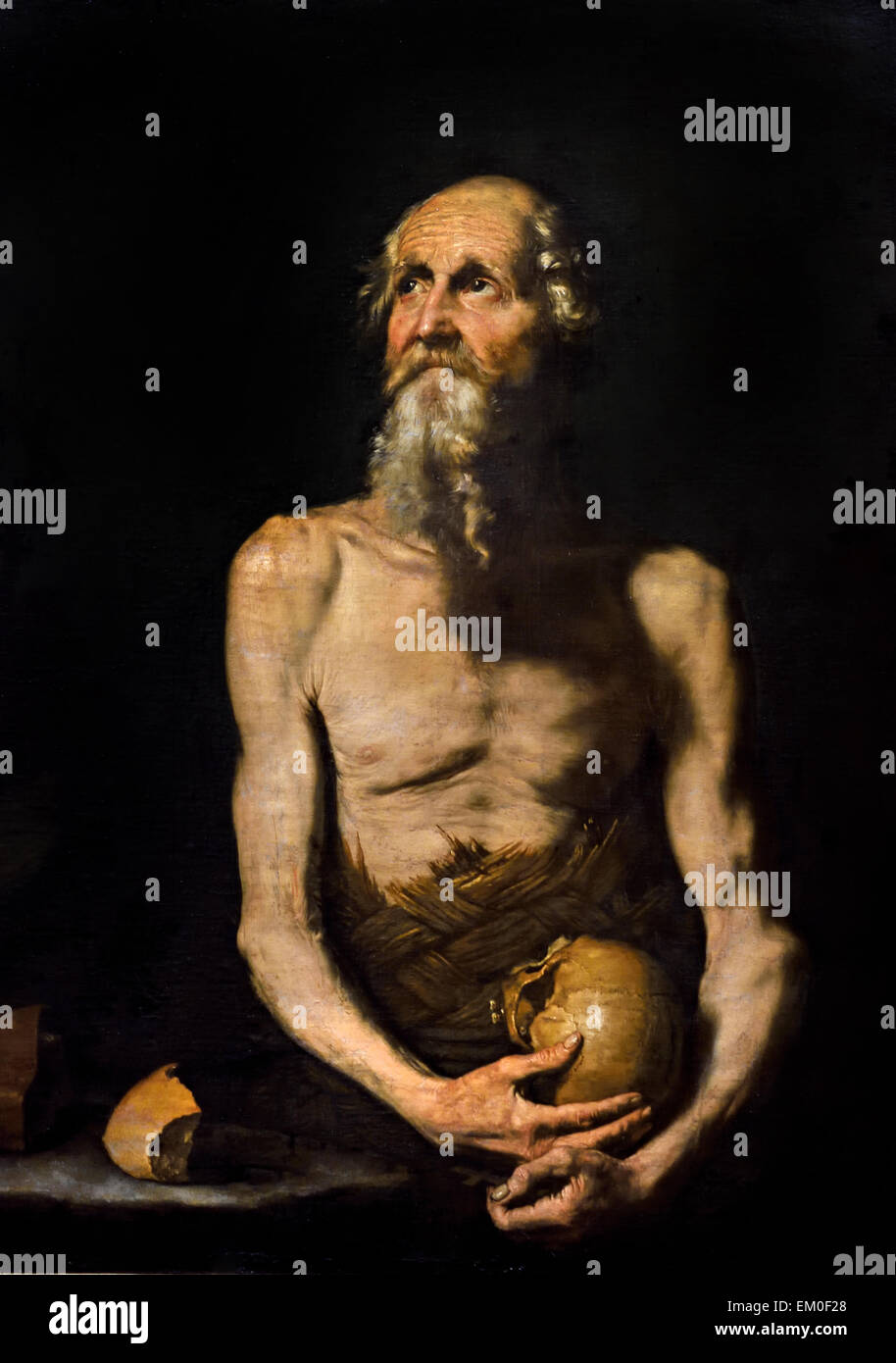 Jusepe de Ribera ( Játiva/Valencia 1591 – 1652 Naples )  St Paul the Hermit 1647 Spain Spanish - Stock Image