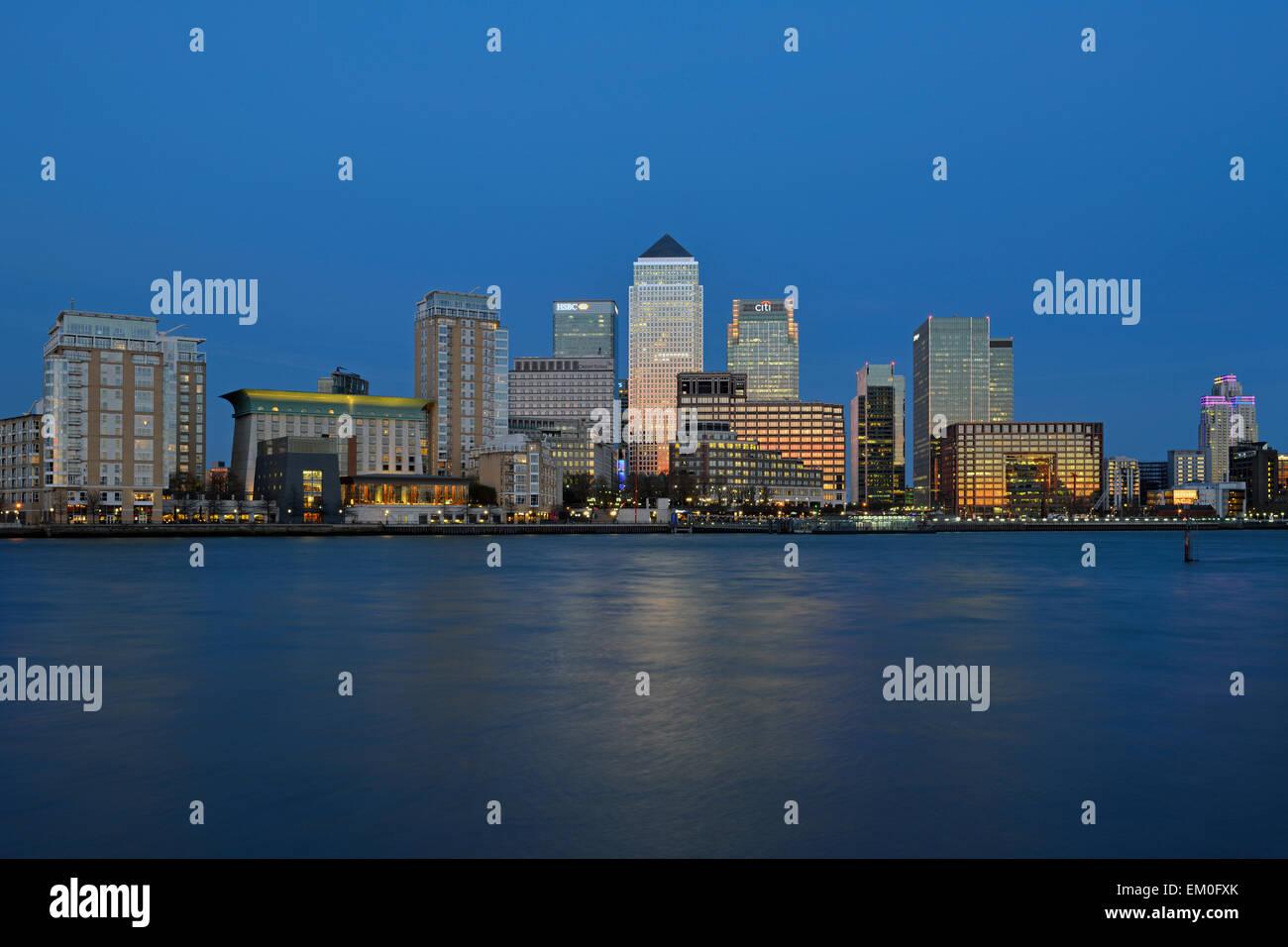 Canary Riverside, Canary Wharf Estate, Isle of Dogs, Docklands, London E14, United Kingdom - Stock Image
