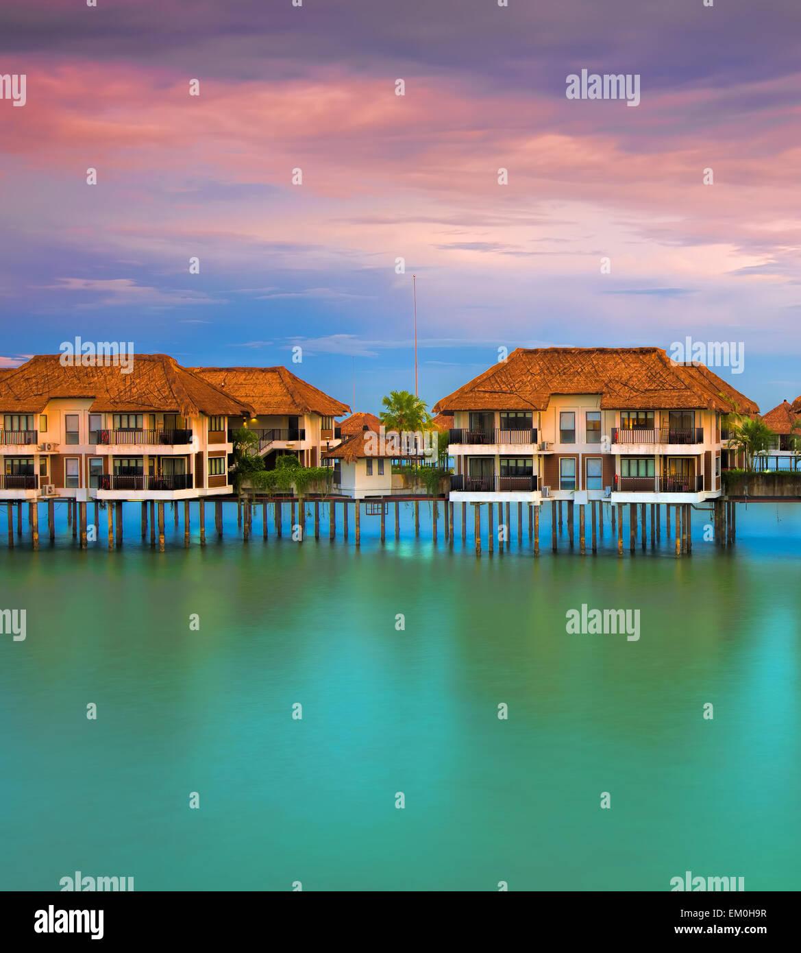 Water villas - Stock Image
