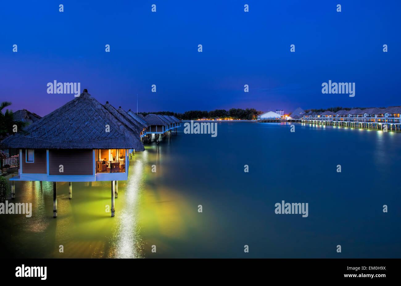 Water villas Stock Photo