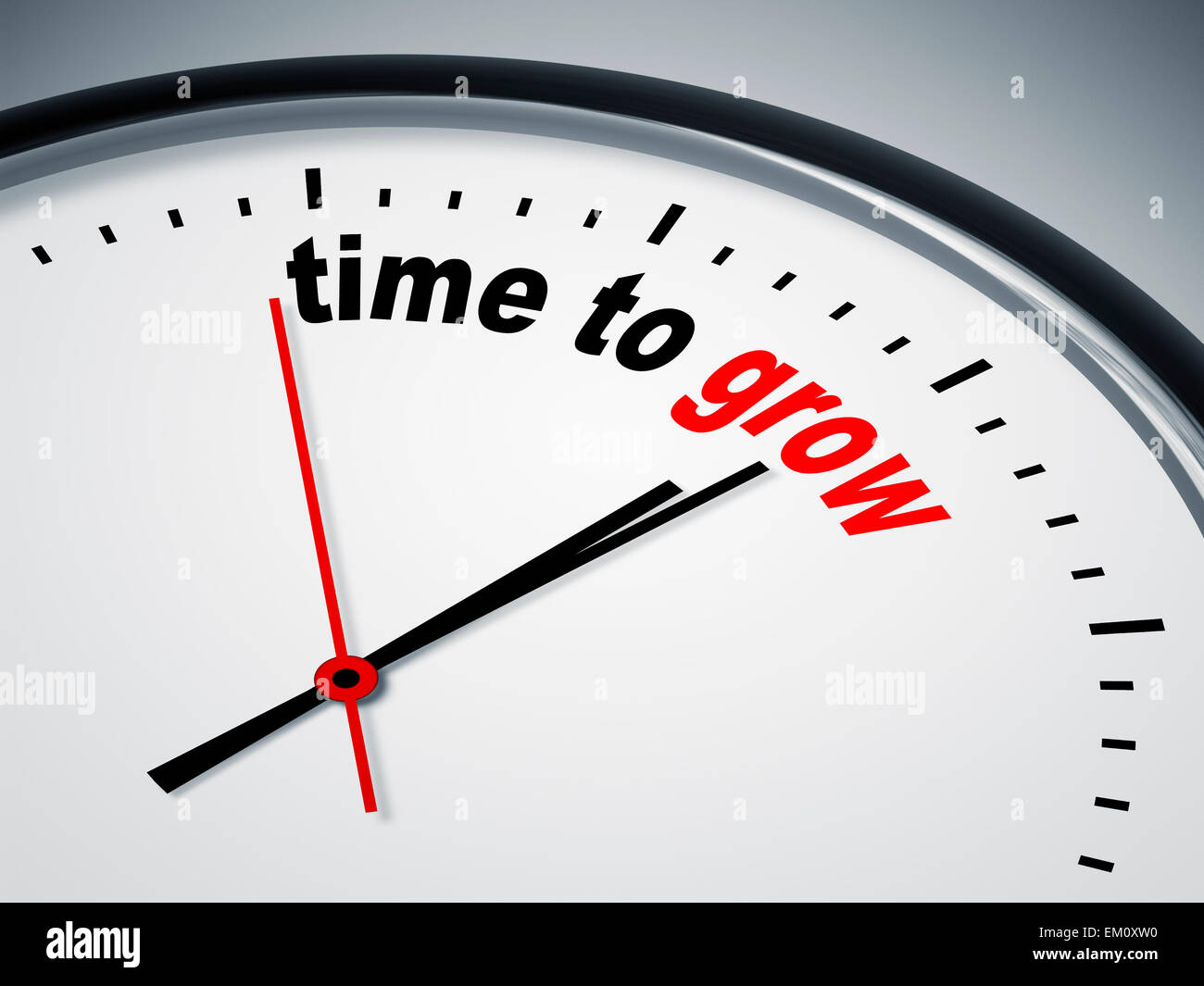 time to grow - Stock Image