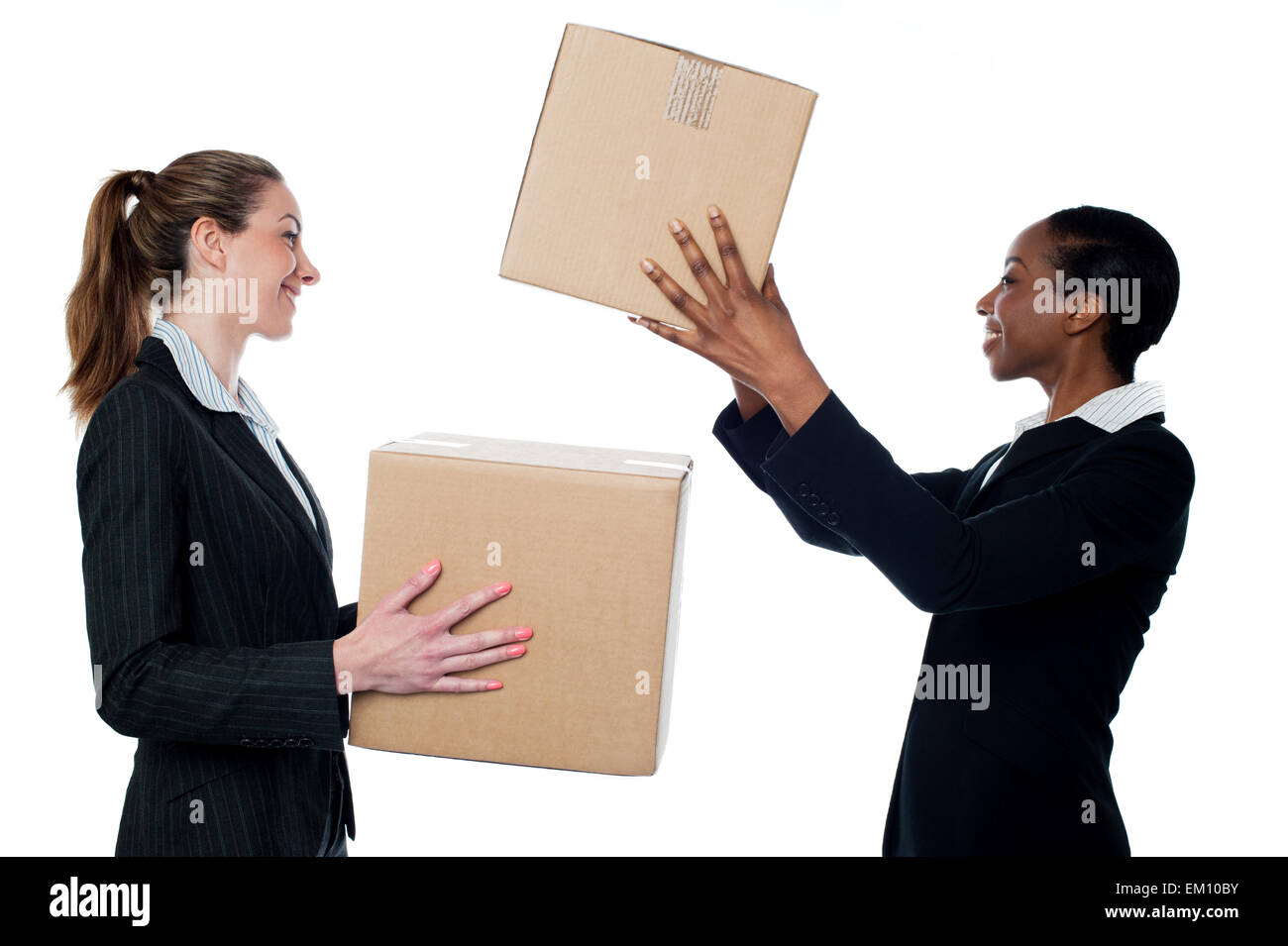 Its time to move to the new office - Stock Image