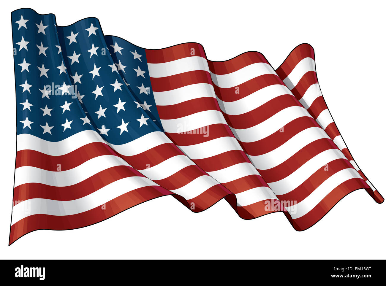 US Flag WWI-WWII (48 stars) - Stock Image