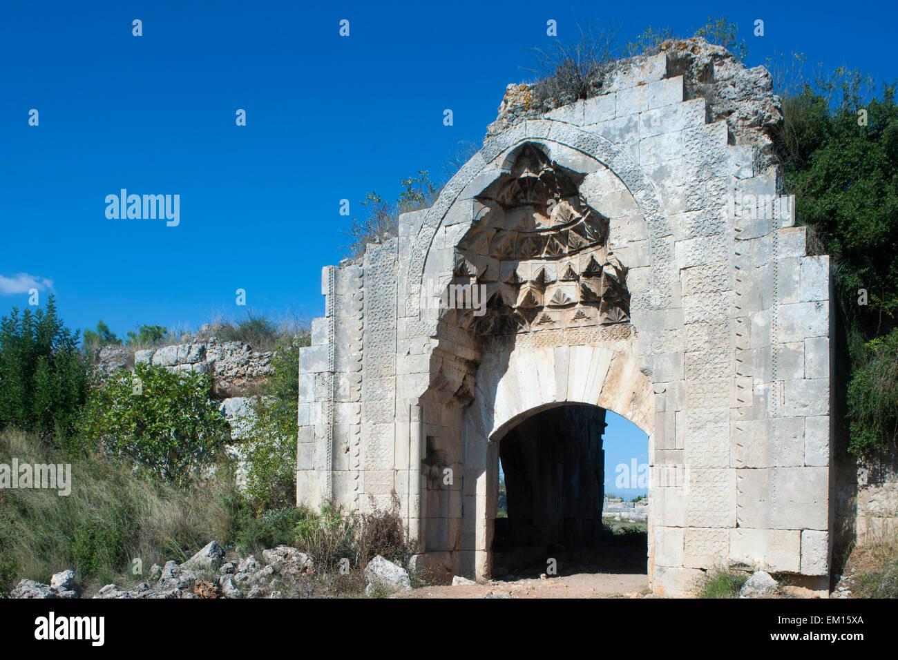 Türkei, Provinz Antalya, Dösemealti, Evdir Han, die seldschukische Karawanserei Evdir-Han wurde von Izeddin - Stock Image