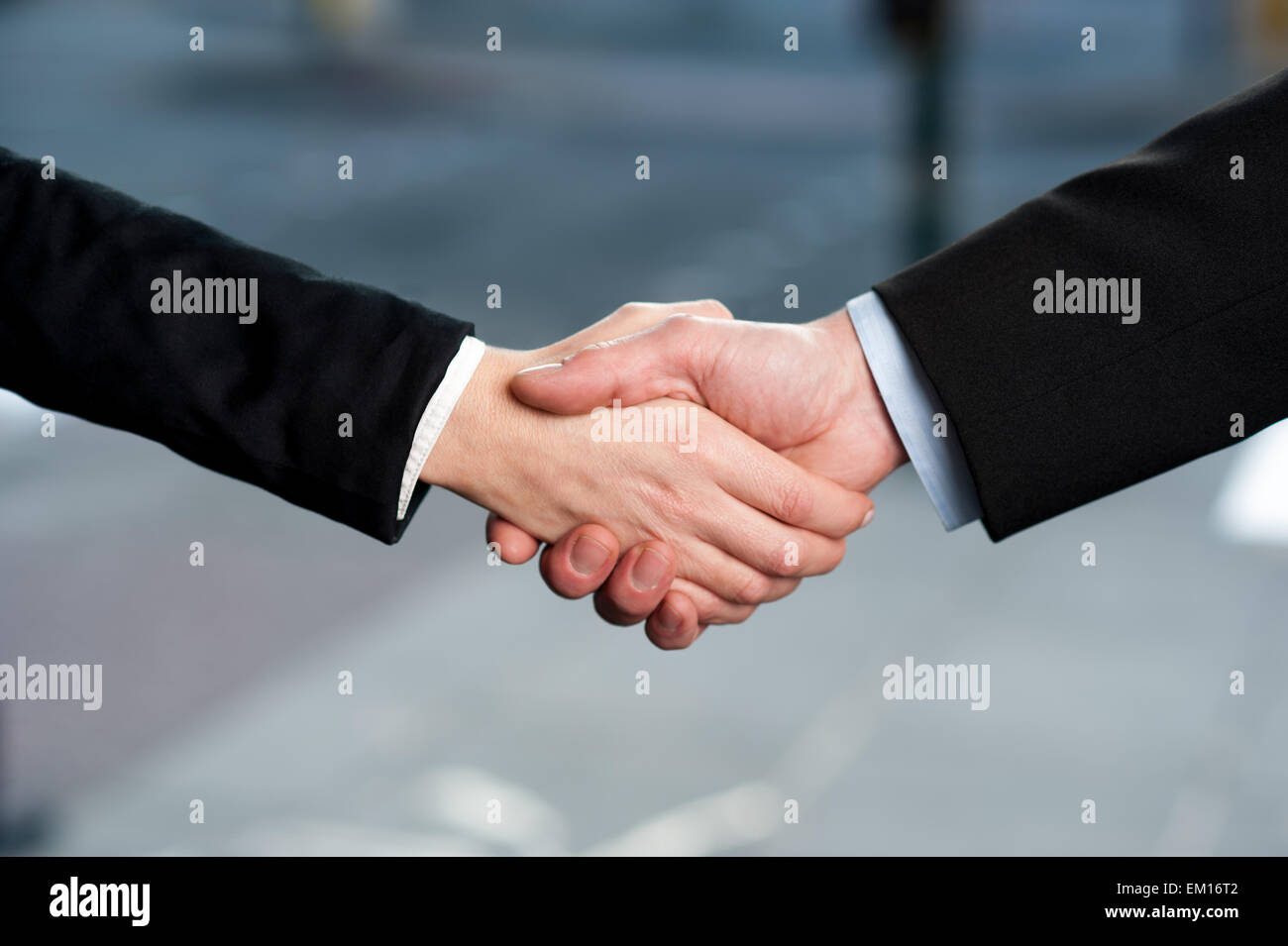 Business handshake, deal finalized Stock Photo