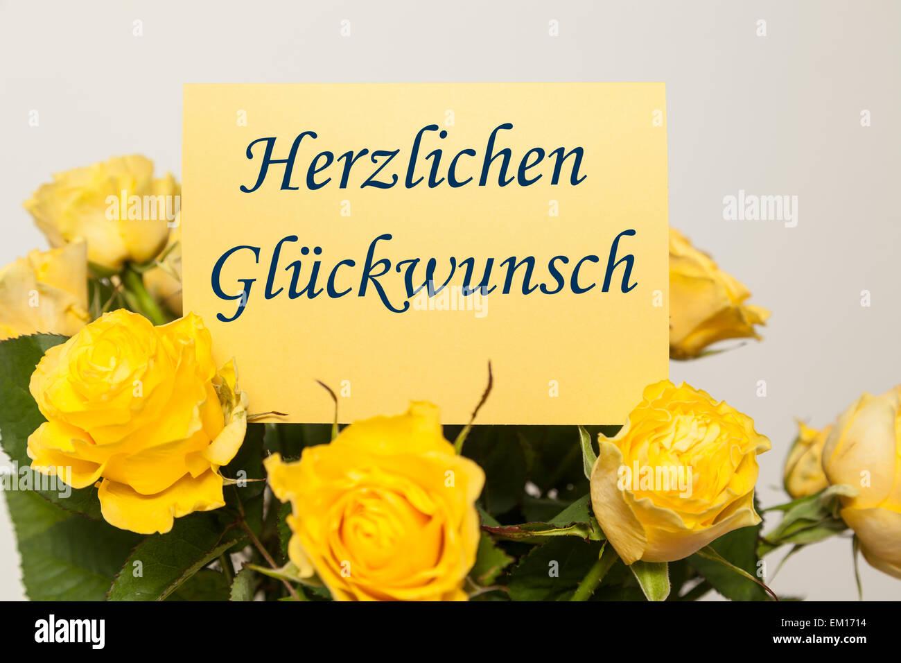 Congratulations (german) - Stock Image