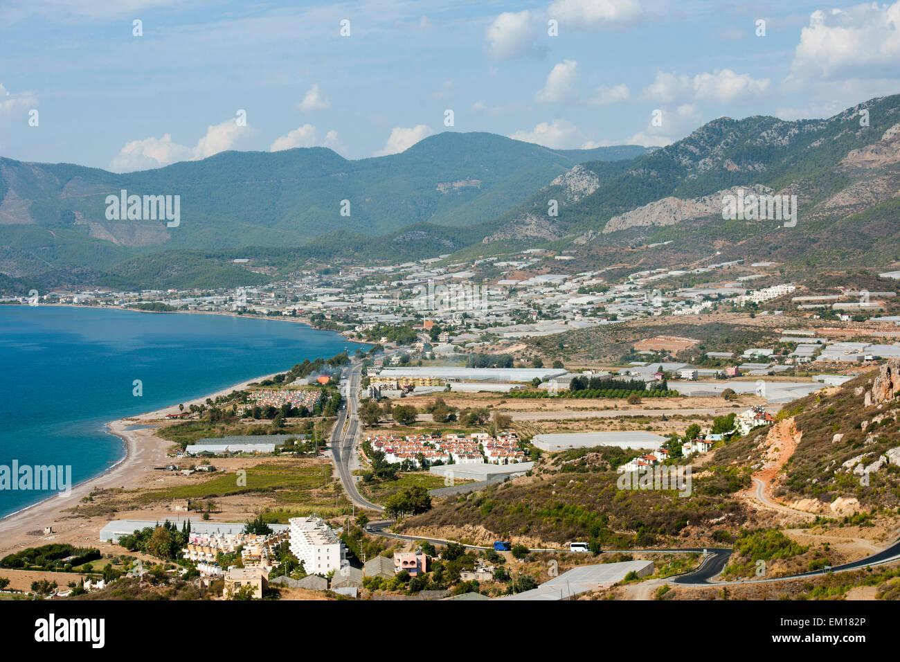 Türkei, Provinz Mersin (Icel), Bucht von Tekeli an der Küste bei Aydincik - Stock Image