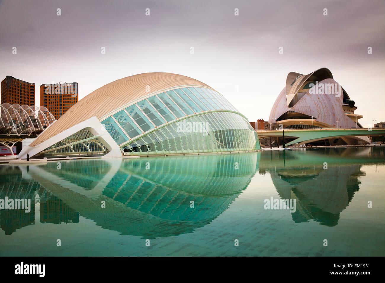 Exterior of the Hemisferic and Palau de les Arts Reina Sofia in Valencia spain - Stock Image