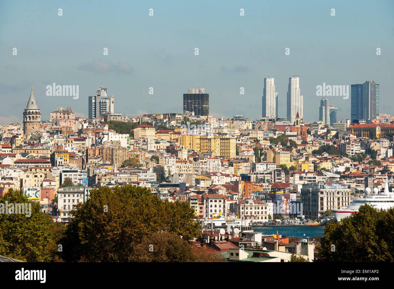 Istanbul, Blick von Sultanahmet über den Bosporus - Stock Image