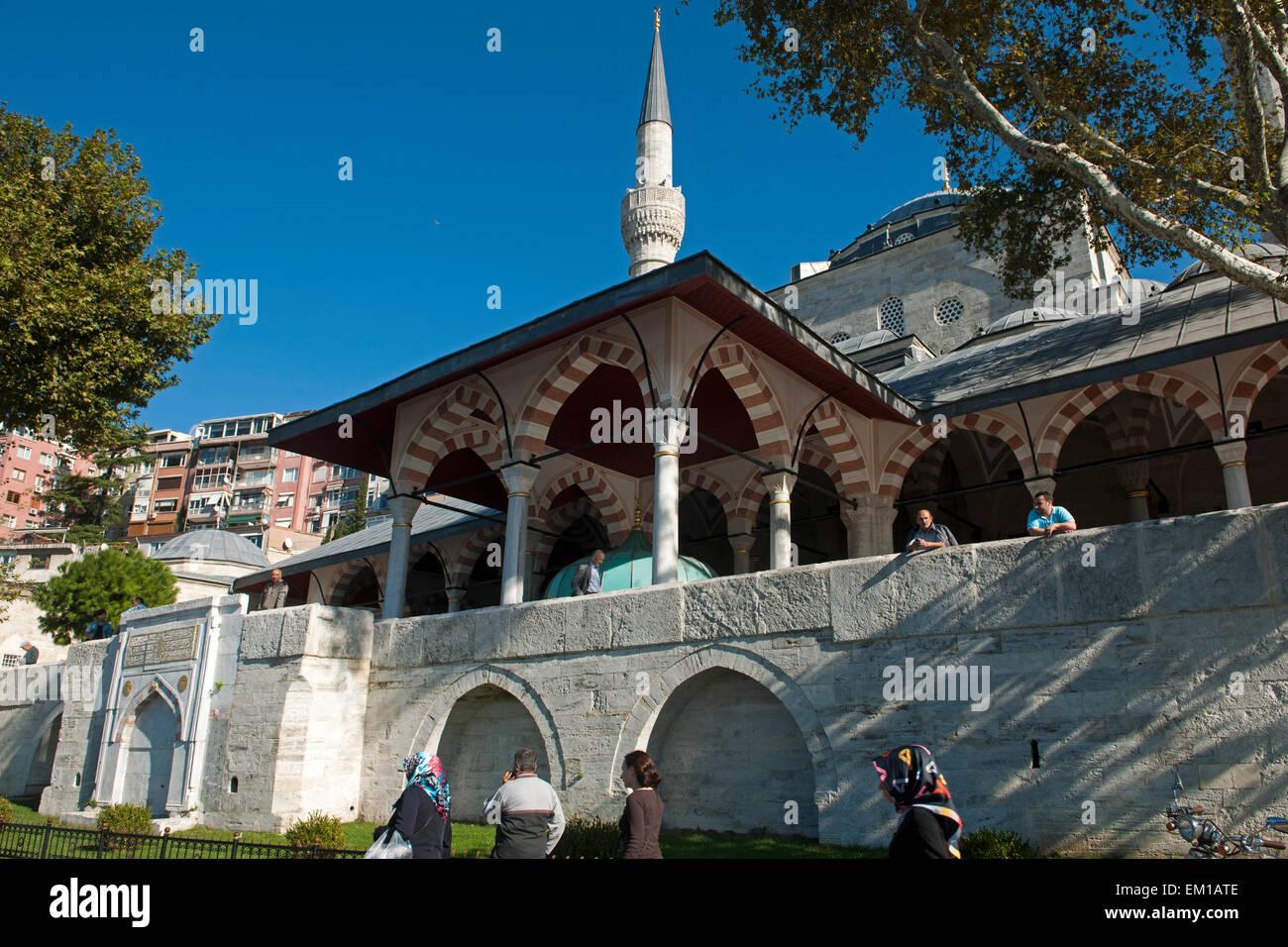 Türkei, Istanbul, Üsküdar, Mihrimah Sultan Camii (Iskele Camii) 1546 bis 1548 vom Architekten Sinan - Stock Image