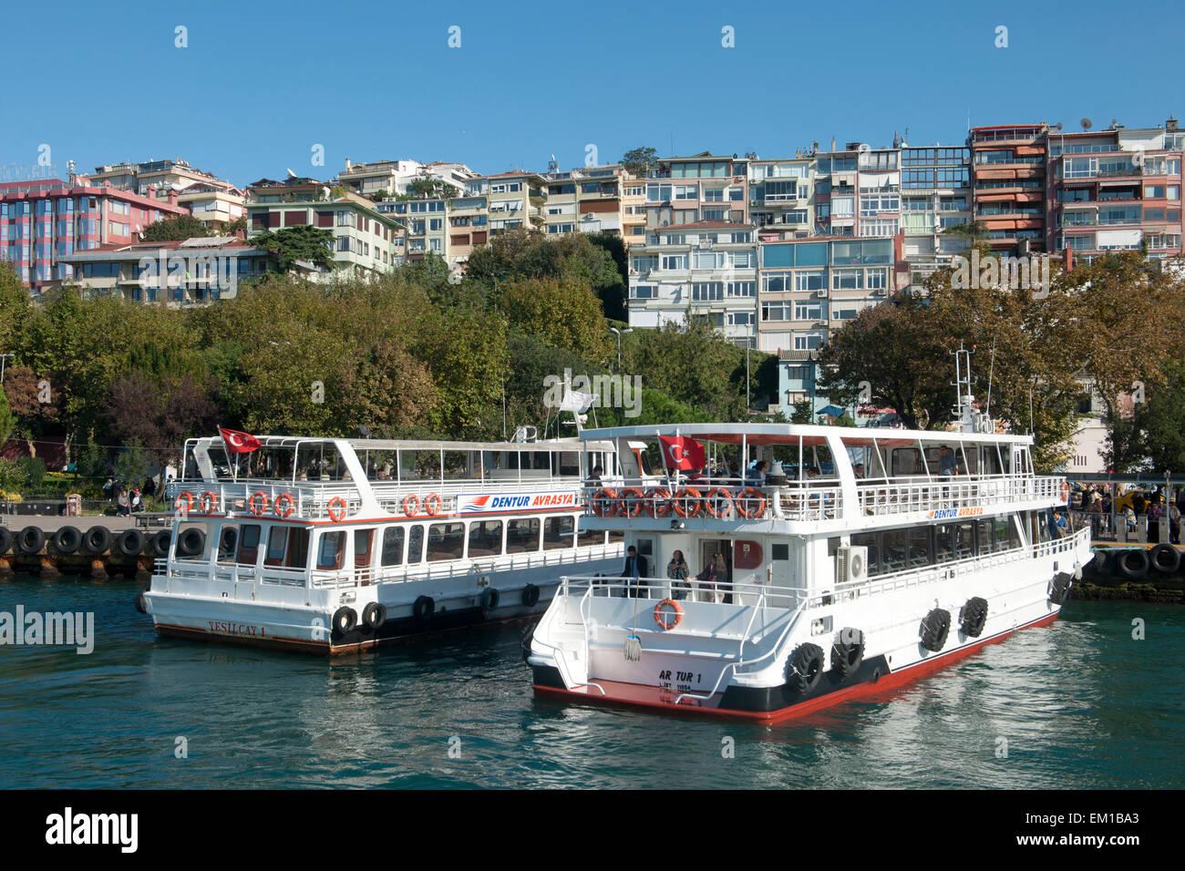Türkei, Istanbul, Üsküdar, Fähranleger (Iskele) - Stock Image