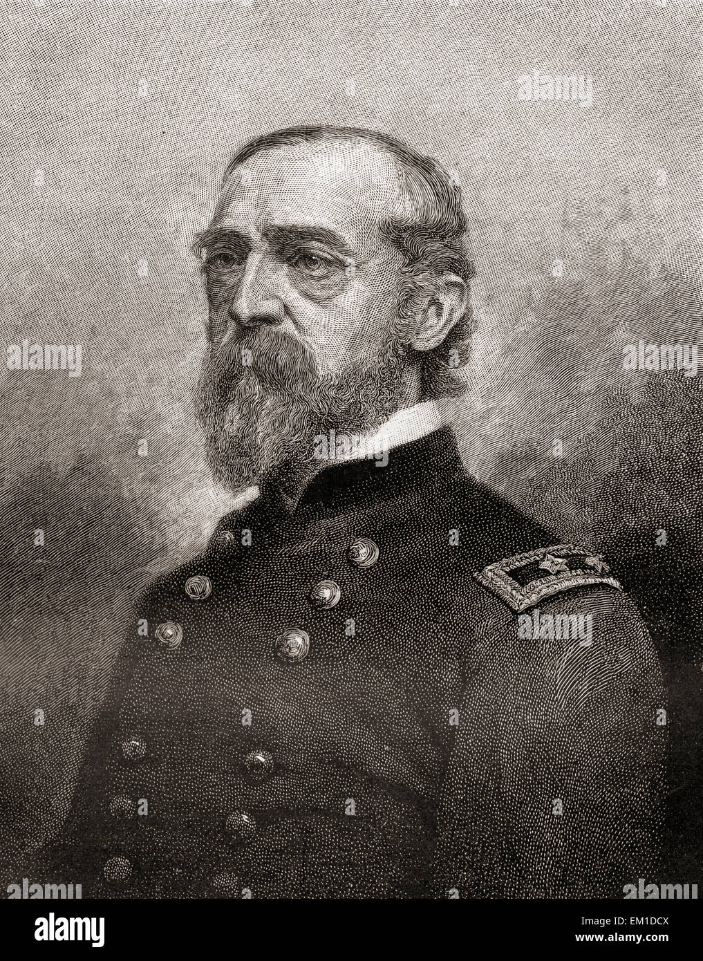 George Gordon Meade,  1815 – 1872.  United States Army officer and civil engineer. - Stock Image
