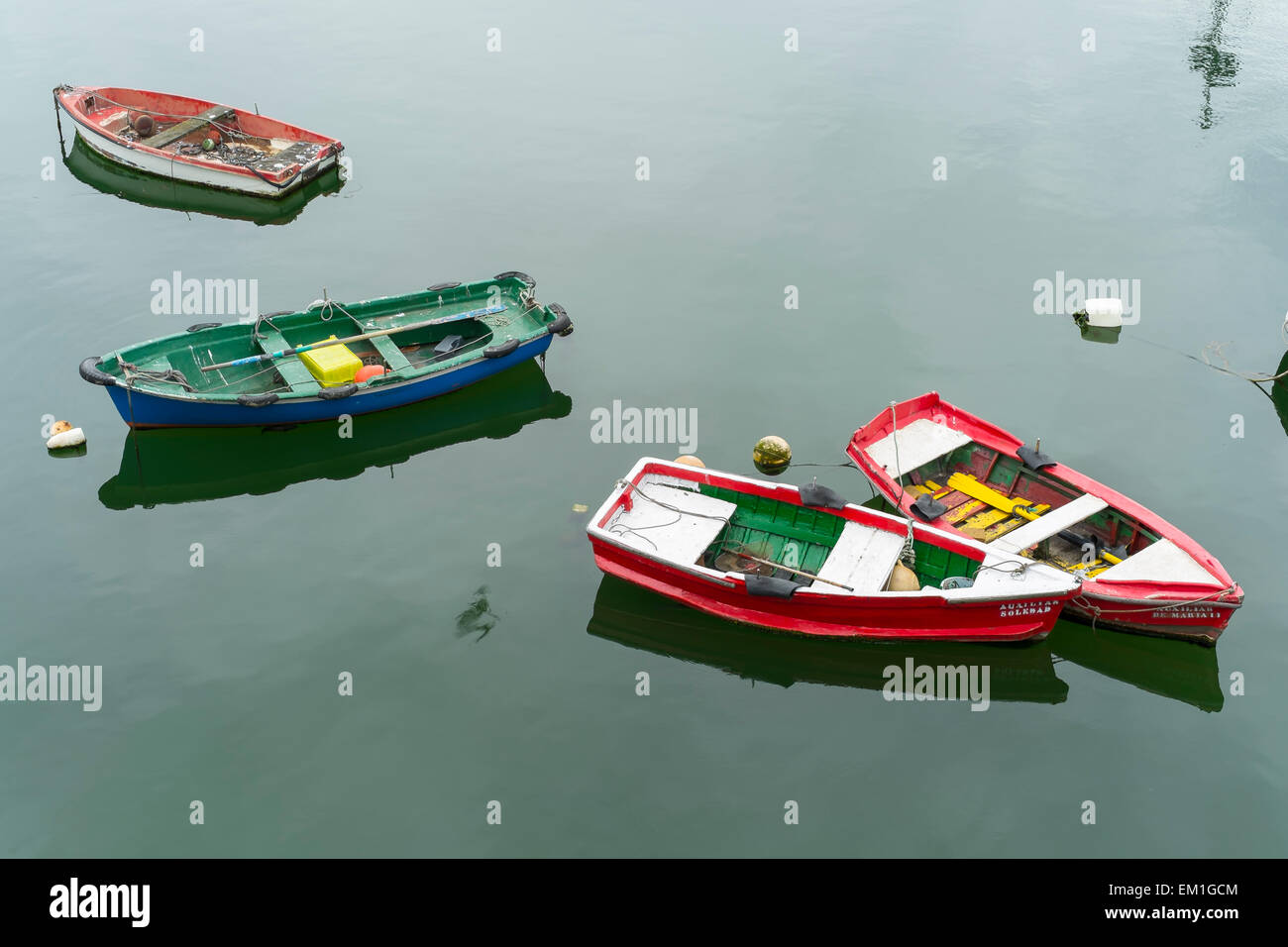 Boats in harbour. - Stock Image