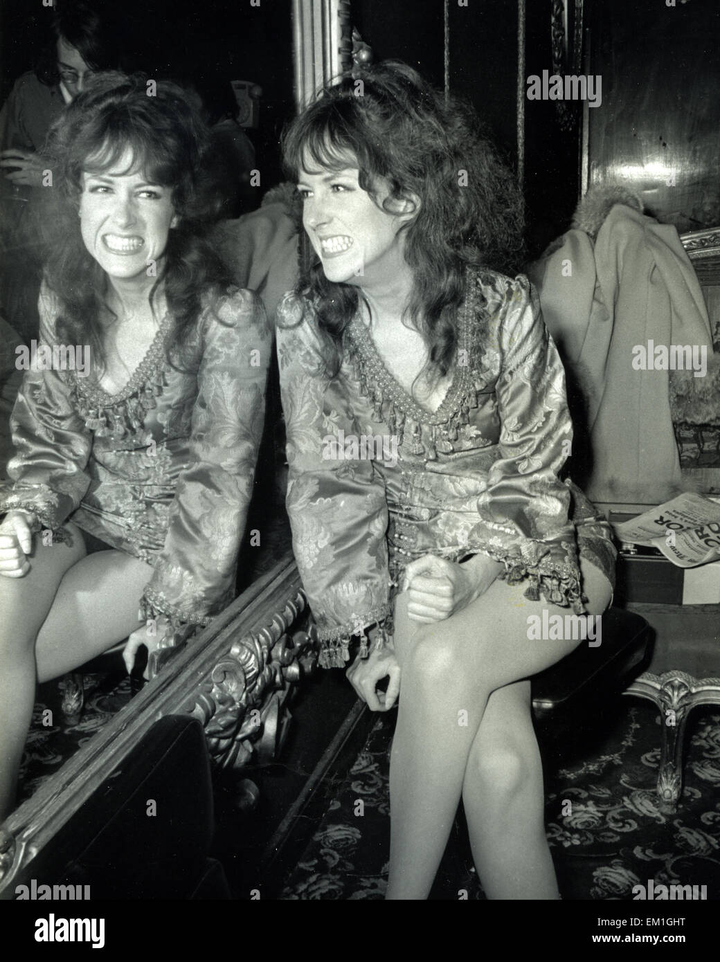 GRACE SLICK of Jefferson Airplane in August 1968. Photo Tony Gale - Stock Image