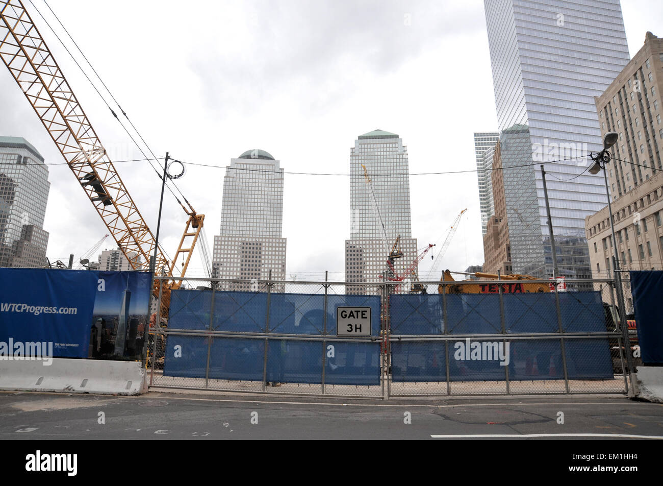 Rebuilding the World Trade Centre. Foundations under construction 2009 - Stock Image