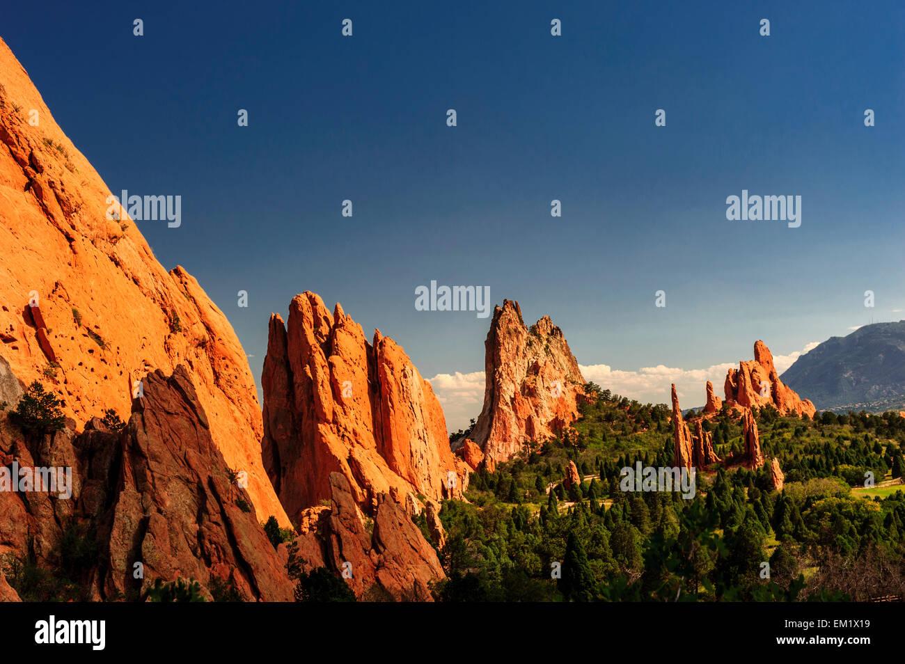 Garden of the Gods, Colorado. - Stock Image