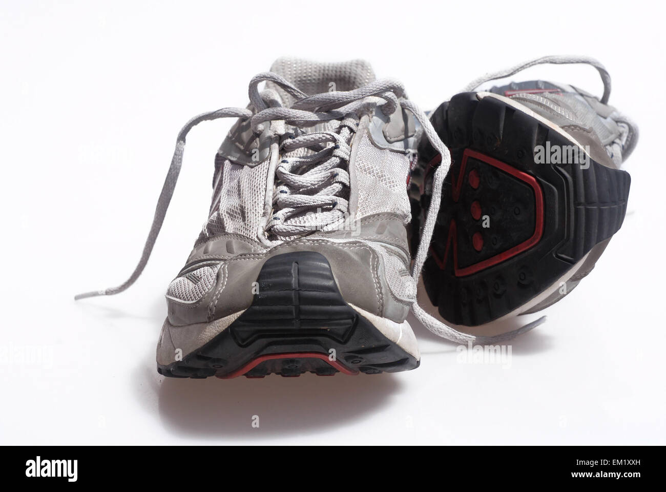 mens gym running trainers shoes sneakers - Stock Image
