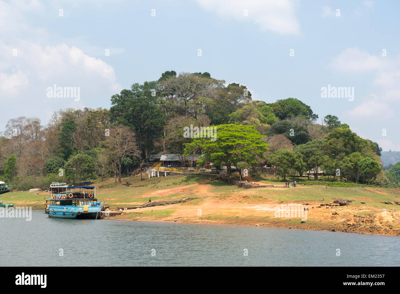 The Periyar Reserve in Thekkady, Kerala India - Stock Image