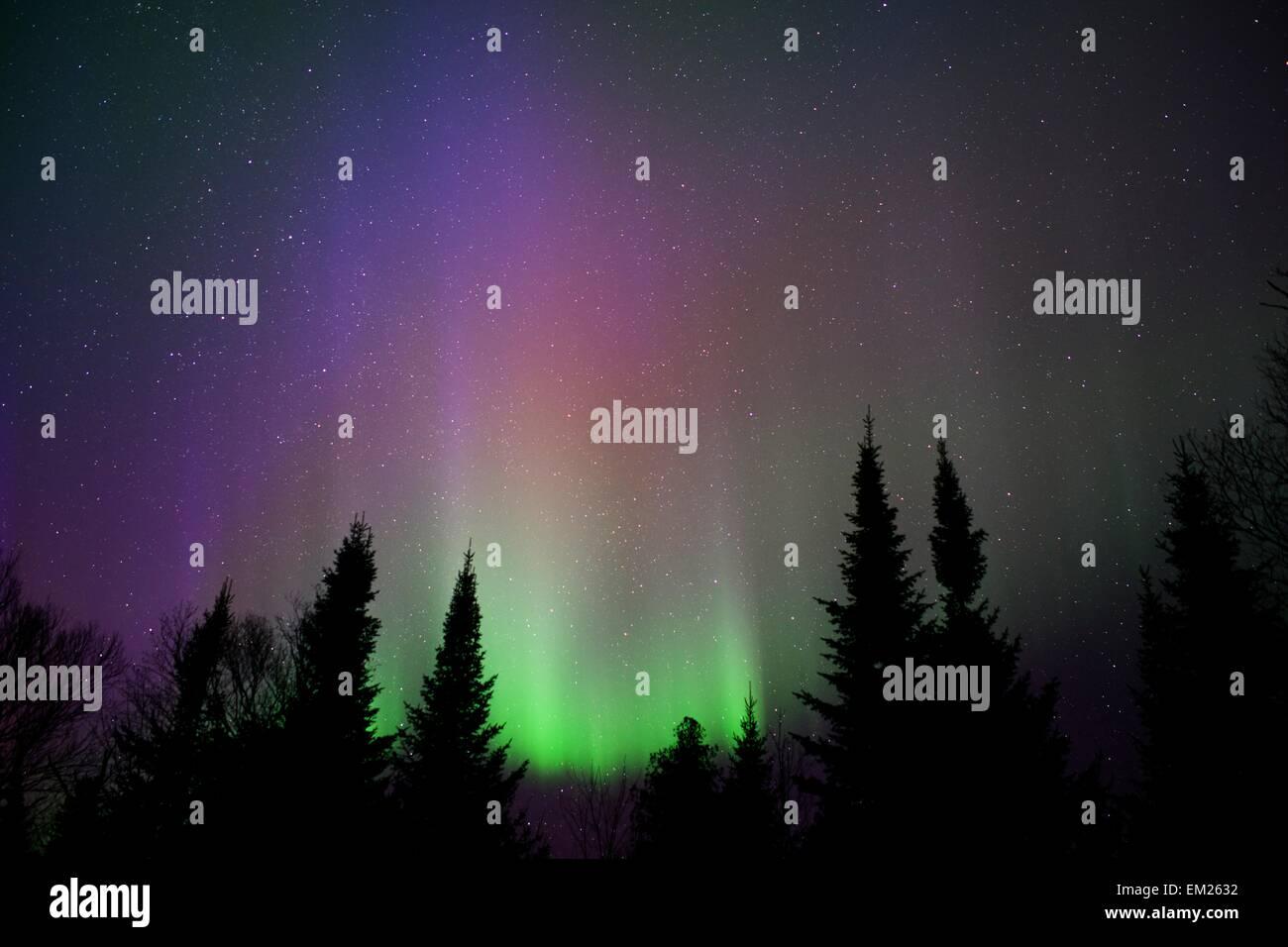 northern lights aurora borealis shimmer stock photos northern