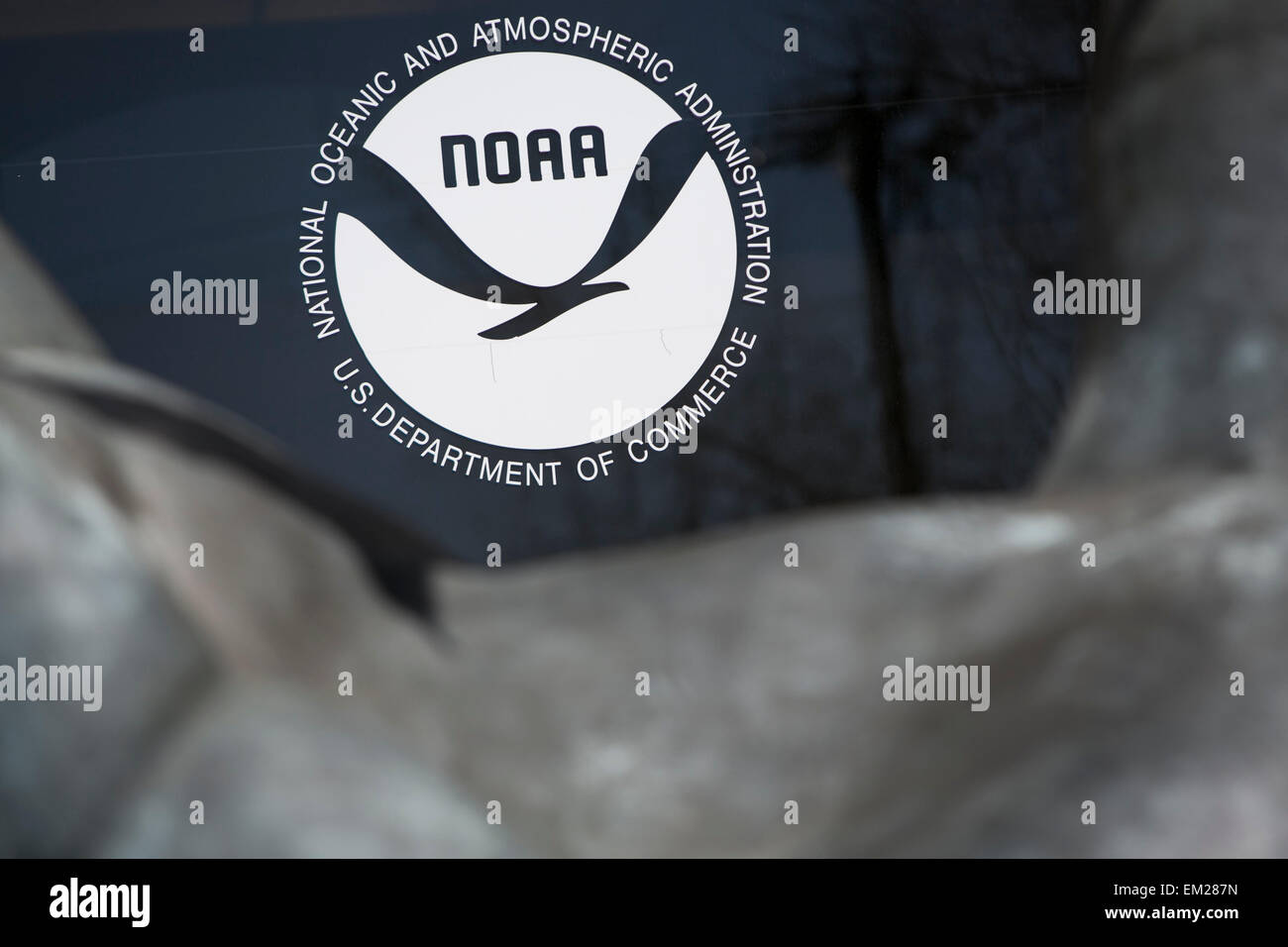 An exterior view of the headquarters of the National Oceanic and Atmospheric Administration (NOAA) in Silver Spring, - Stock Image