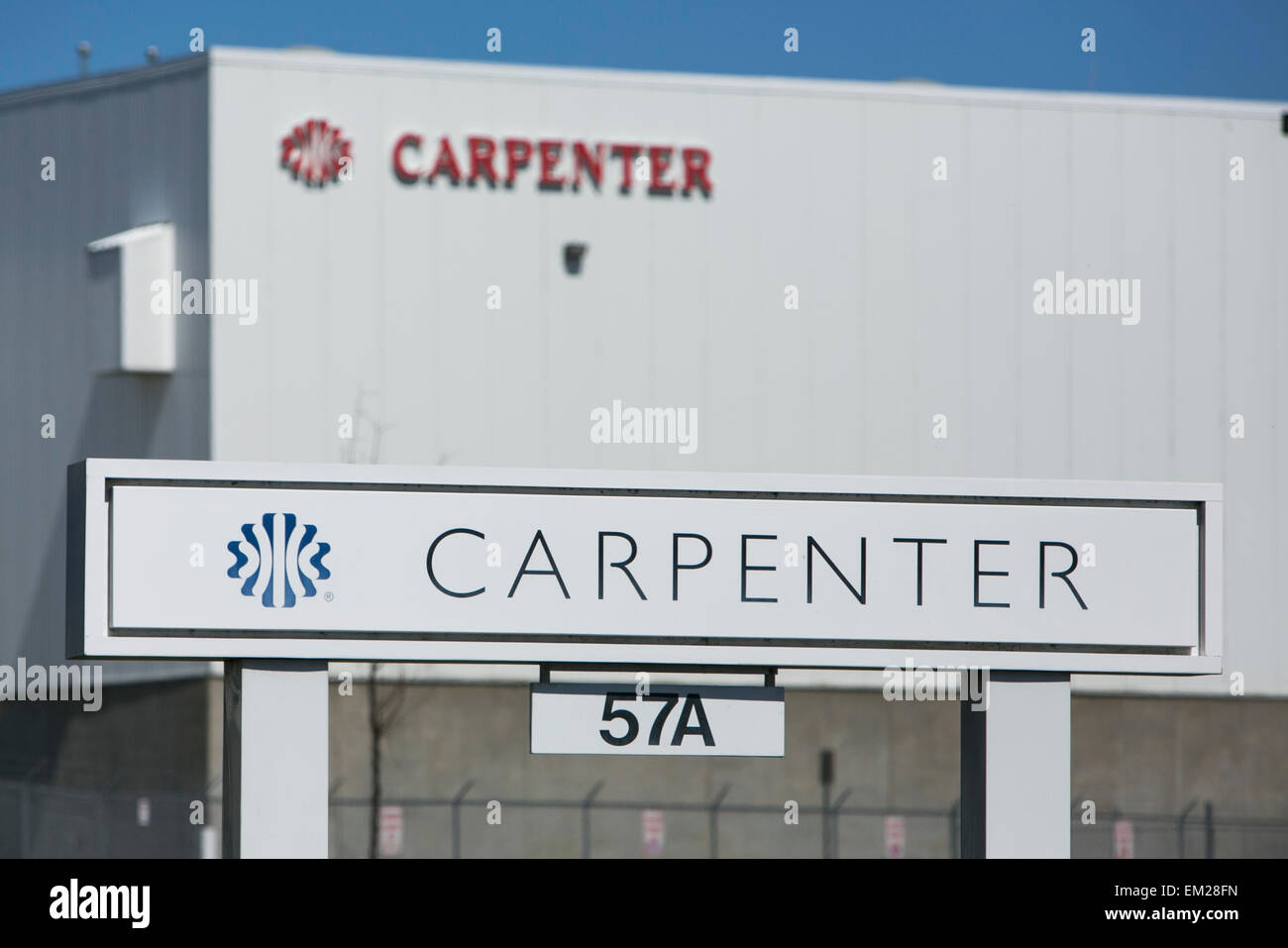 A logo sign outside of a facility operated by the cushioning products manufacturer Carpenter Ltd. - Stock Image