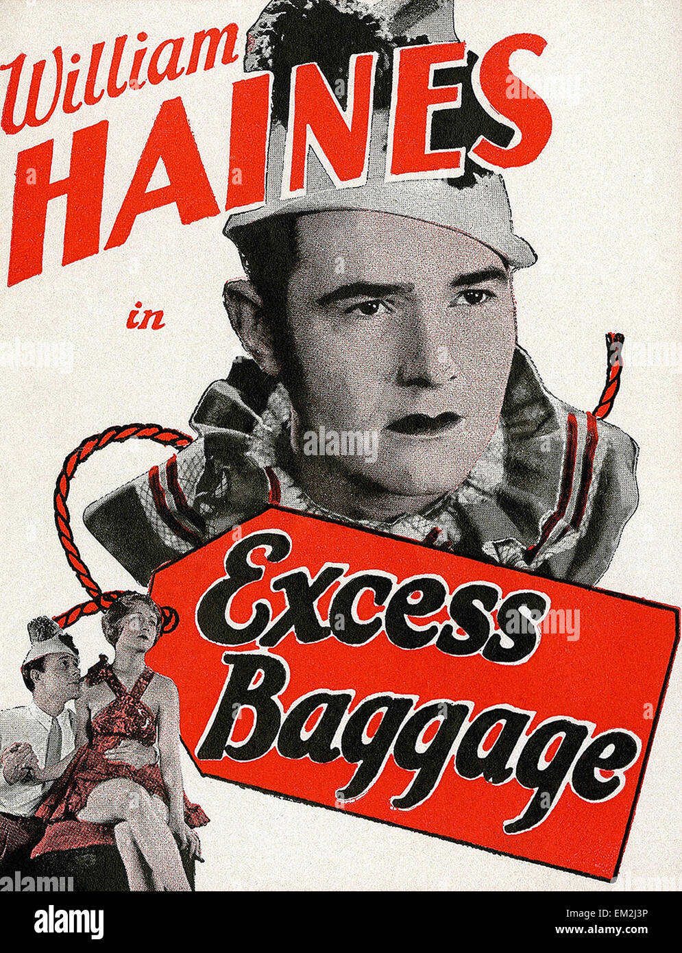 Excess Baggage 1928  - Movie Poster - Stock Image