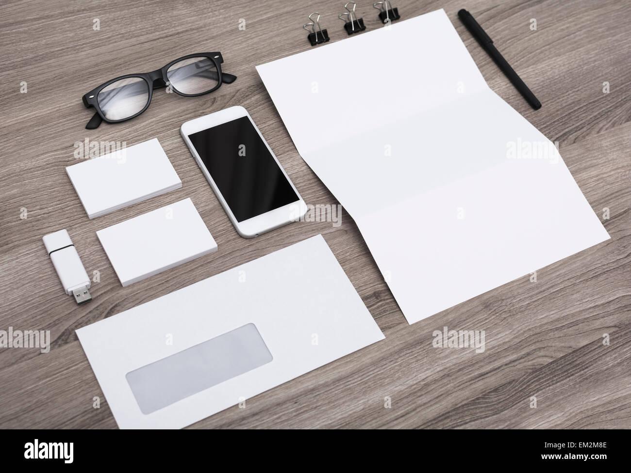 corporate identity design template. Stationary. - Stock Image