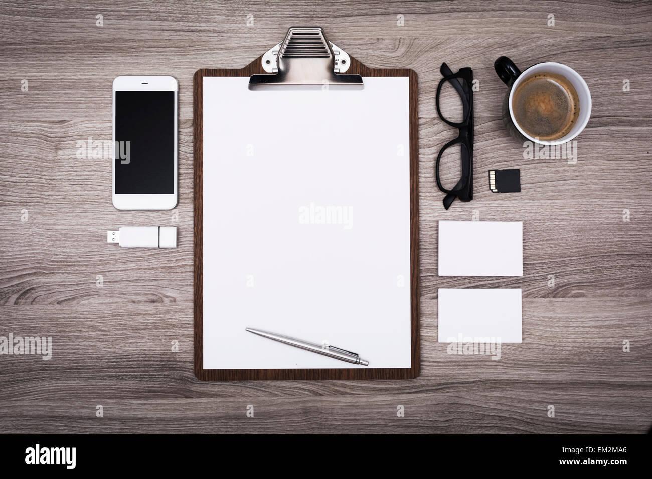 Letterhead or menu design. Stationary mockup - Stock Image
