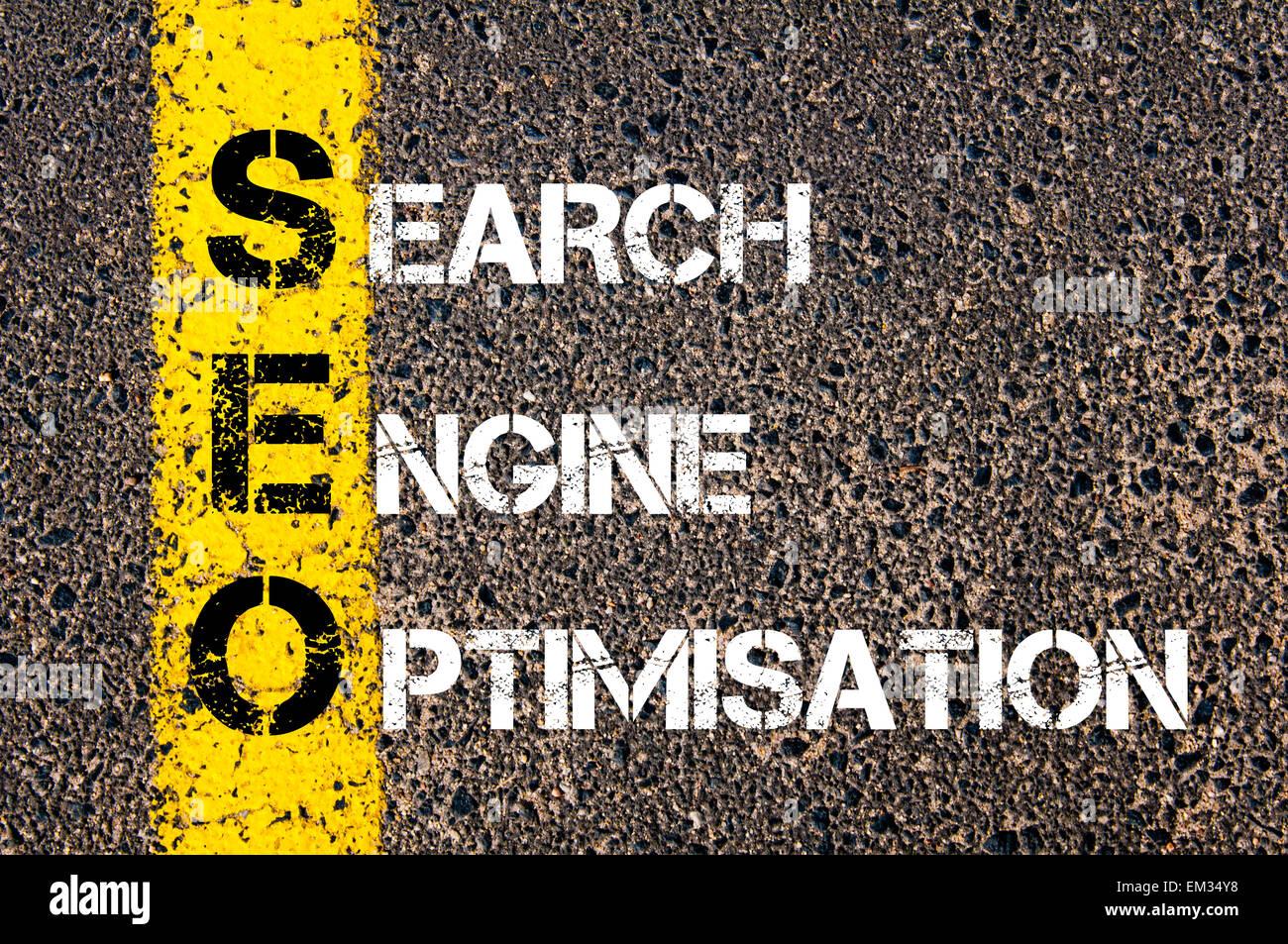 Acronym SEO - Search Engine Optimisation. - Stock Image