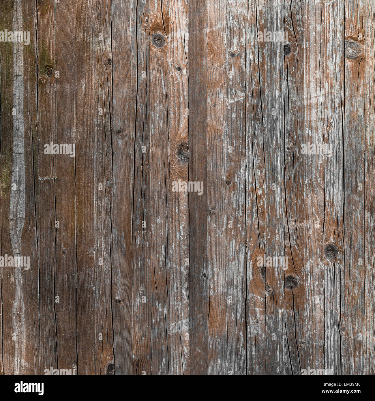 Planks of rustic wood with light brown tones. - Stock Image