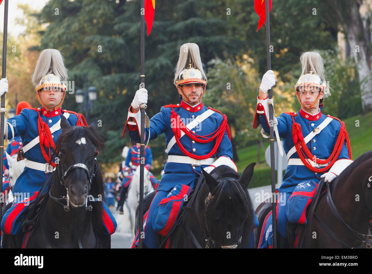 Lancers Of The Royal Guard; Madrid Spain - Stock Image