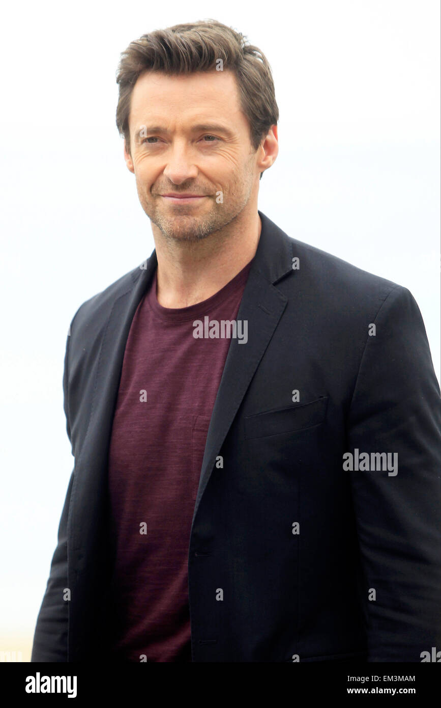 27.SEPTEMBER.2013. LONDON  HUGH JACKMAN ATTENDS THE PHOTOCALL FOR THE DONOSTI AWARD AT THE 61TH SAN SEBASTIAN FILM - Stock Image