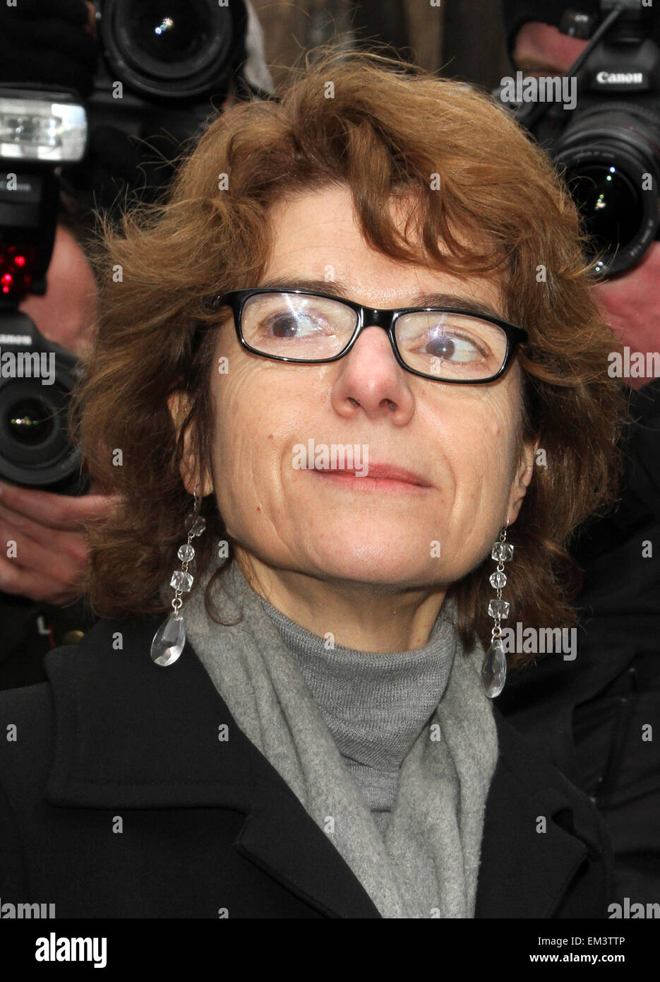 11.MARCH.2013. LONDON  CHRIS HUHNE AND VICKY PRYCE ARRIVE AT HOLLOWAY PRISON IN SOUTHWARK WHERE THEY WILL BE JAILED - Stock Image