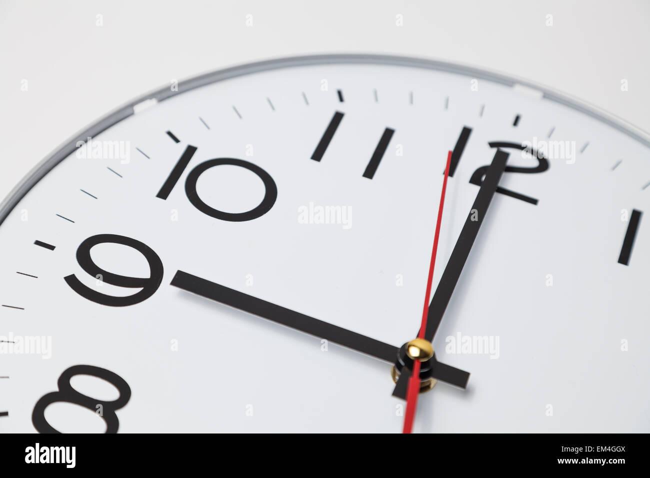 9 o'clock - Stock Image