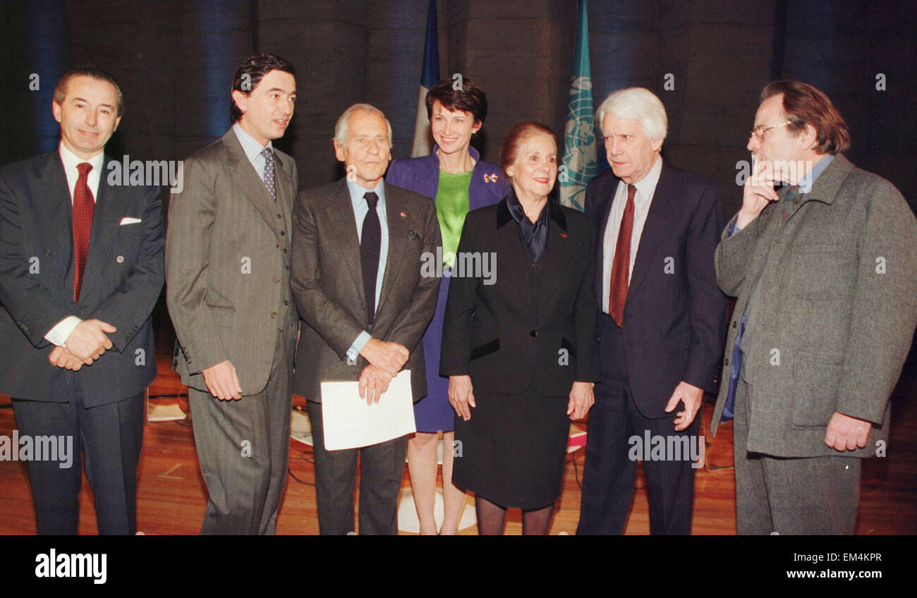08.JUNE.2011. FRANCE  JORGE SEMPRUN, REGIS DEBRAY, JEAN D'ORMESSON, PHILIPPE DOUSTE-BLAZY AND MADELEINE MALRAUX - Stock Image