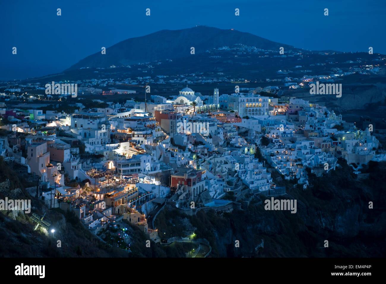 Griechenland, Kykladen, Santorini, Fira - Stock Image