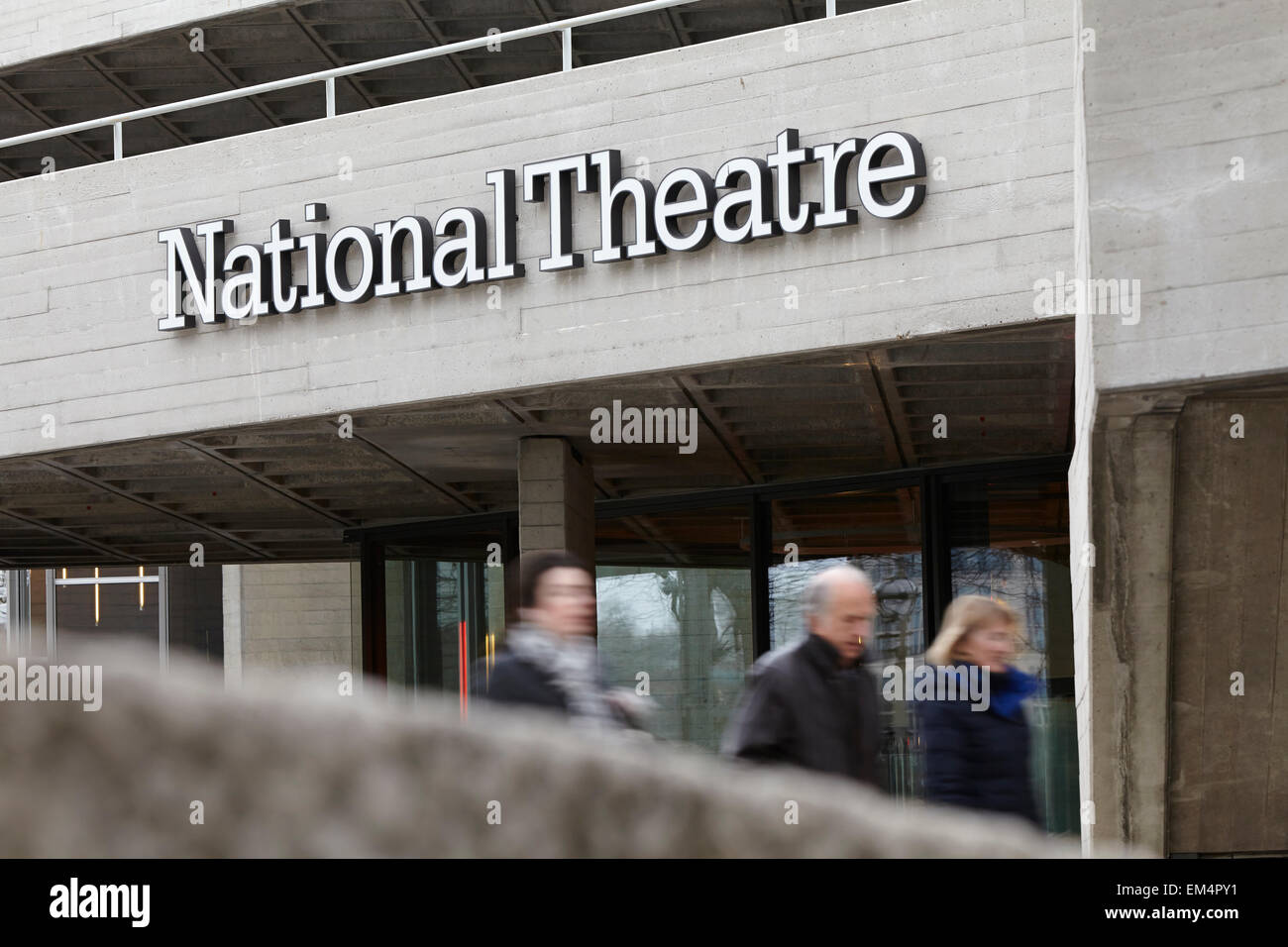 The National Theatre on London's South Bank - Stock Image