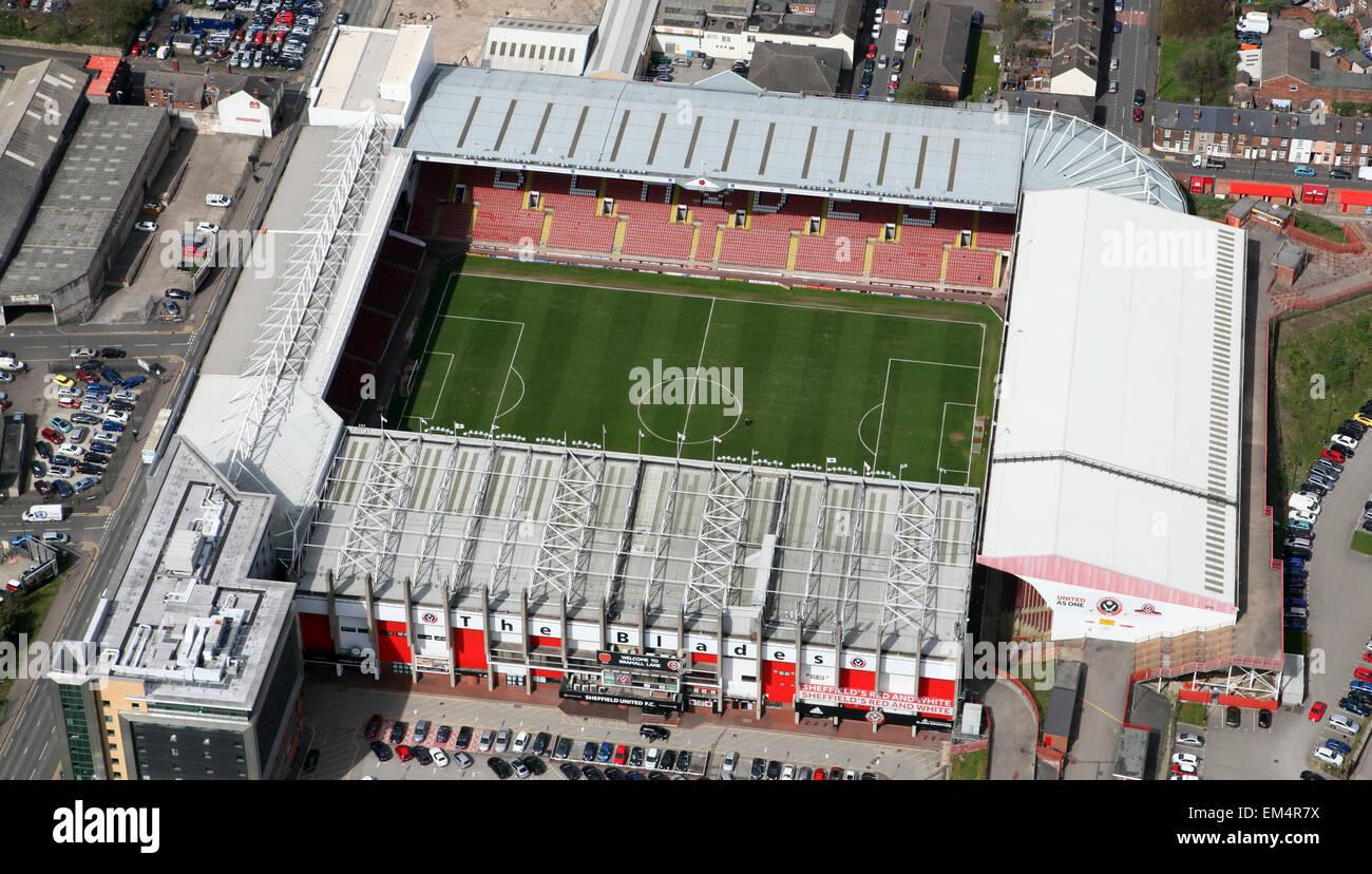 aerial view of Sheffield United FC's Bramall Lane football ...