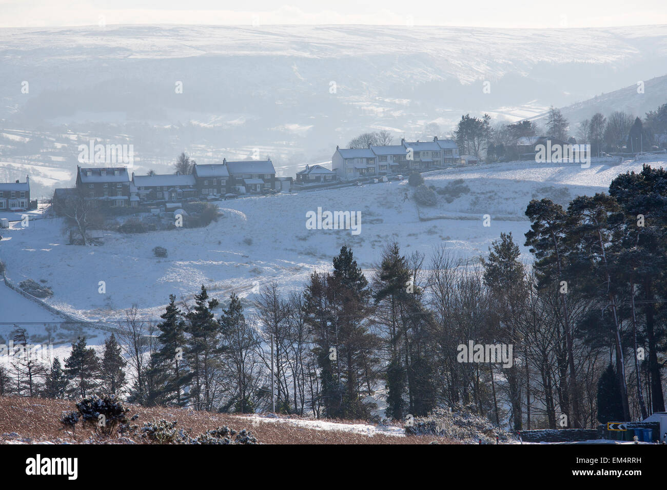 Castleton, North York Moors National Park in Winter Snow - Stock Image