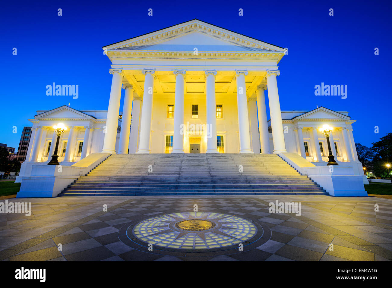 Richmond State Capitol in Richmond, Virginia, USA. - Stock Image