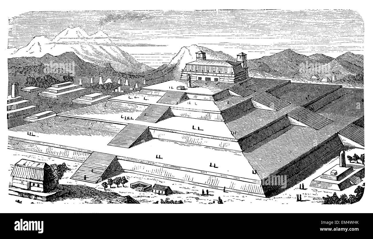 Pyramid of Cholula,Mexico - Stock Image