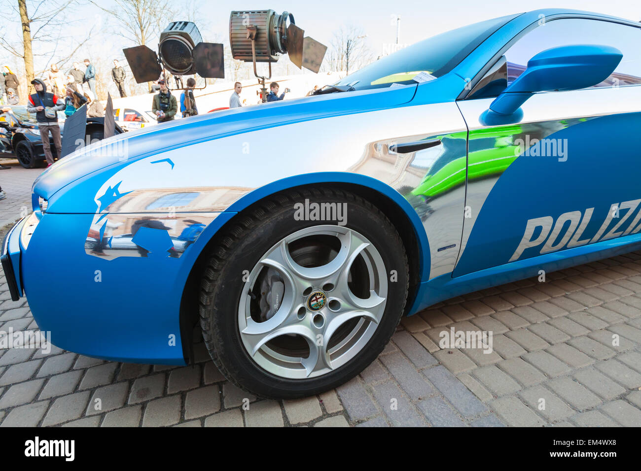 Alfa Brera Stock Photos Images Alamy New Small Circle Blue Saint Petersburg Russia April 11 2015 Afla Romeo Car