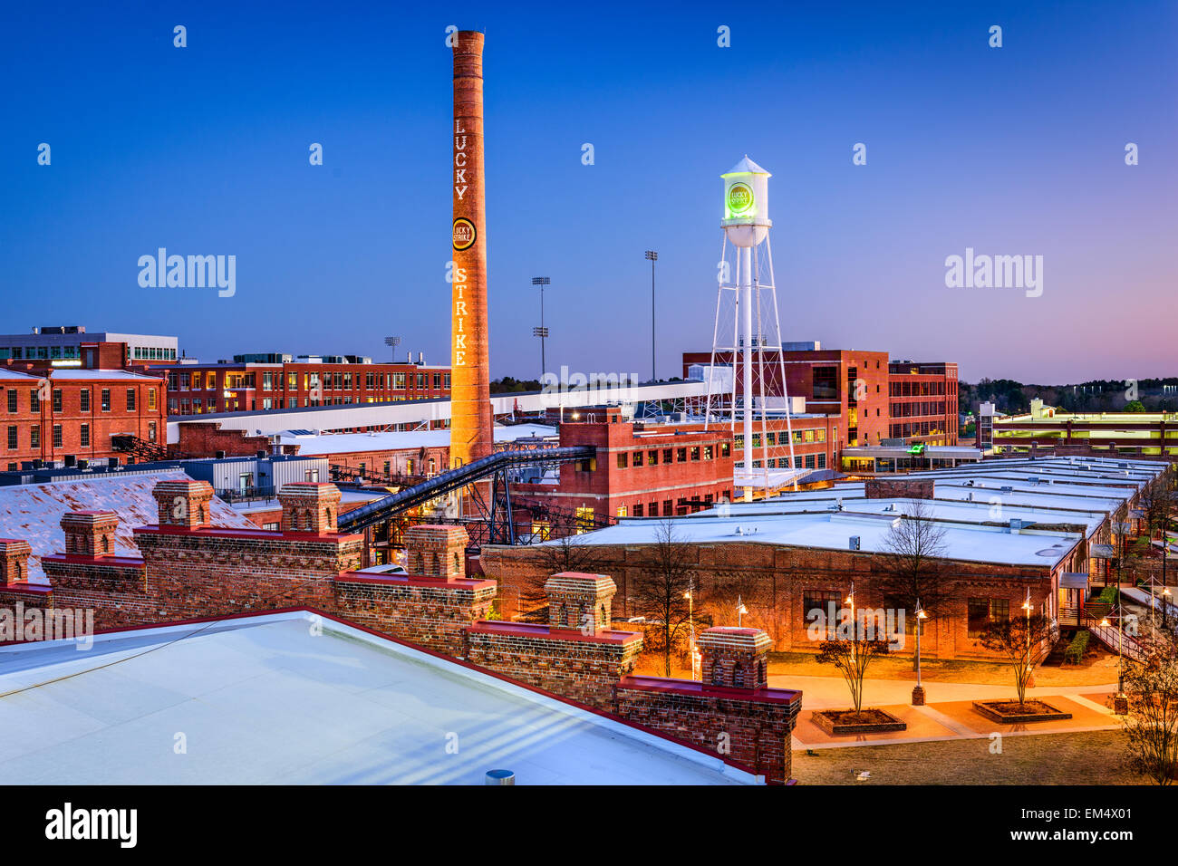 The American Tobacco Historic District in Durham, North Carolina, USA. - Stock Image