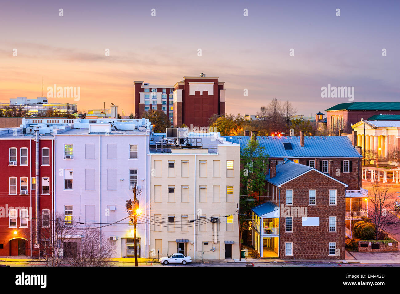 Athens, Georgia, USA downtown cityscape. - Stock Image