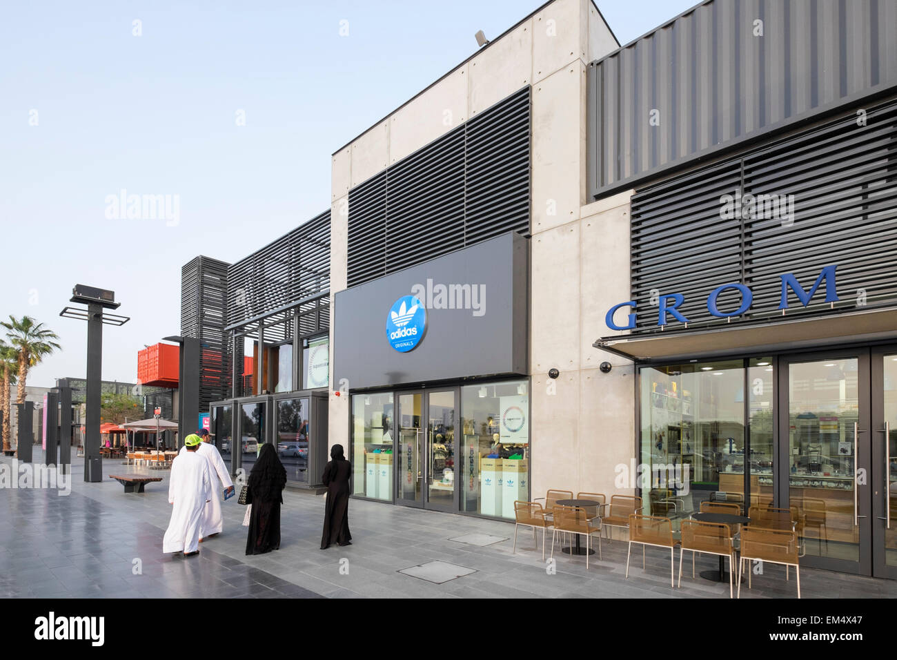 New Boxpark retail development in Dubai United Arab Emirates - Stock Image
