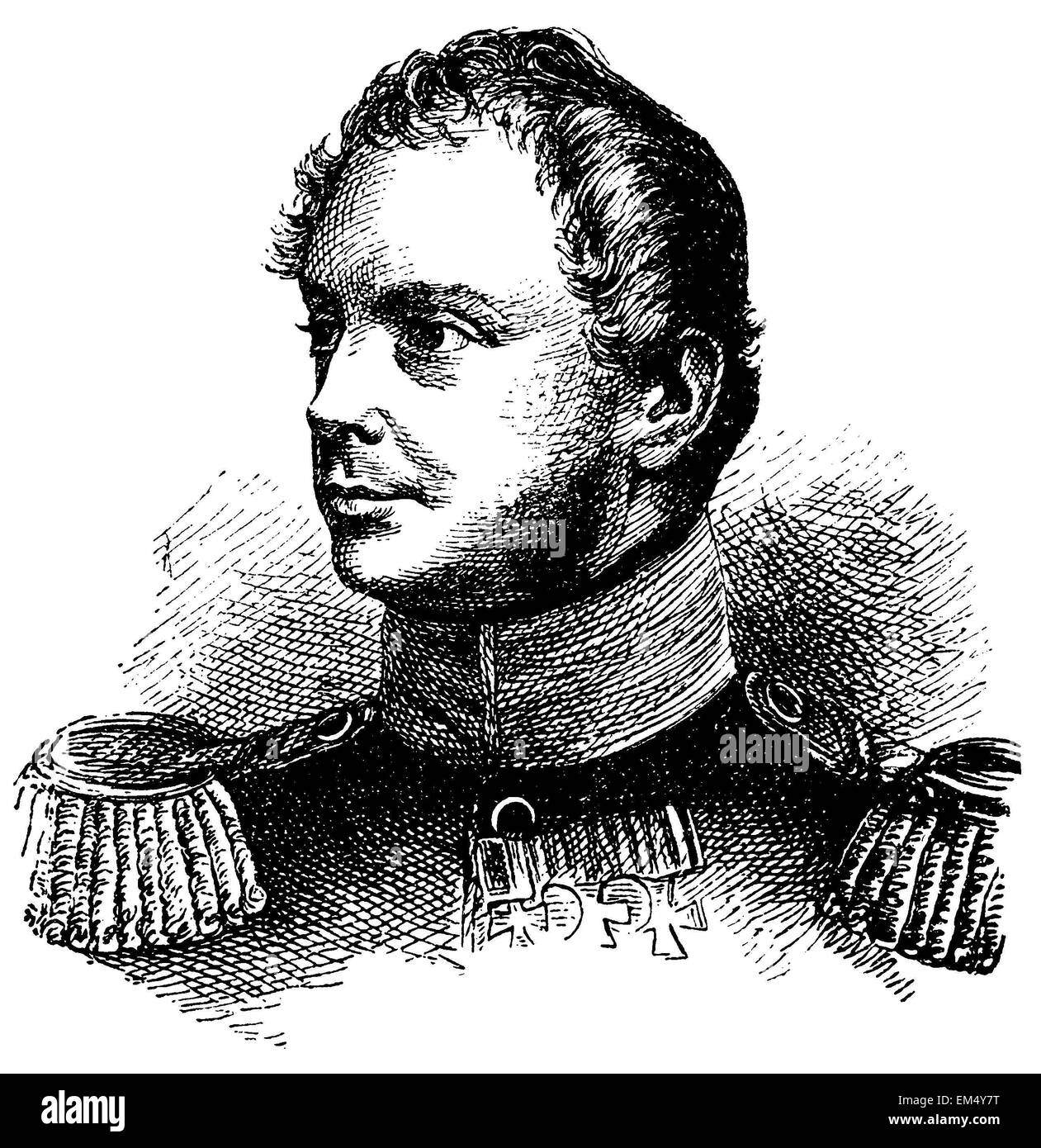 King Frederick William IV (born October 15, 1795 , died January 2, 1861 ) - Stock Image