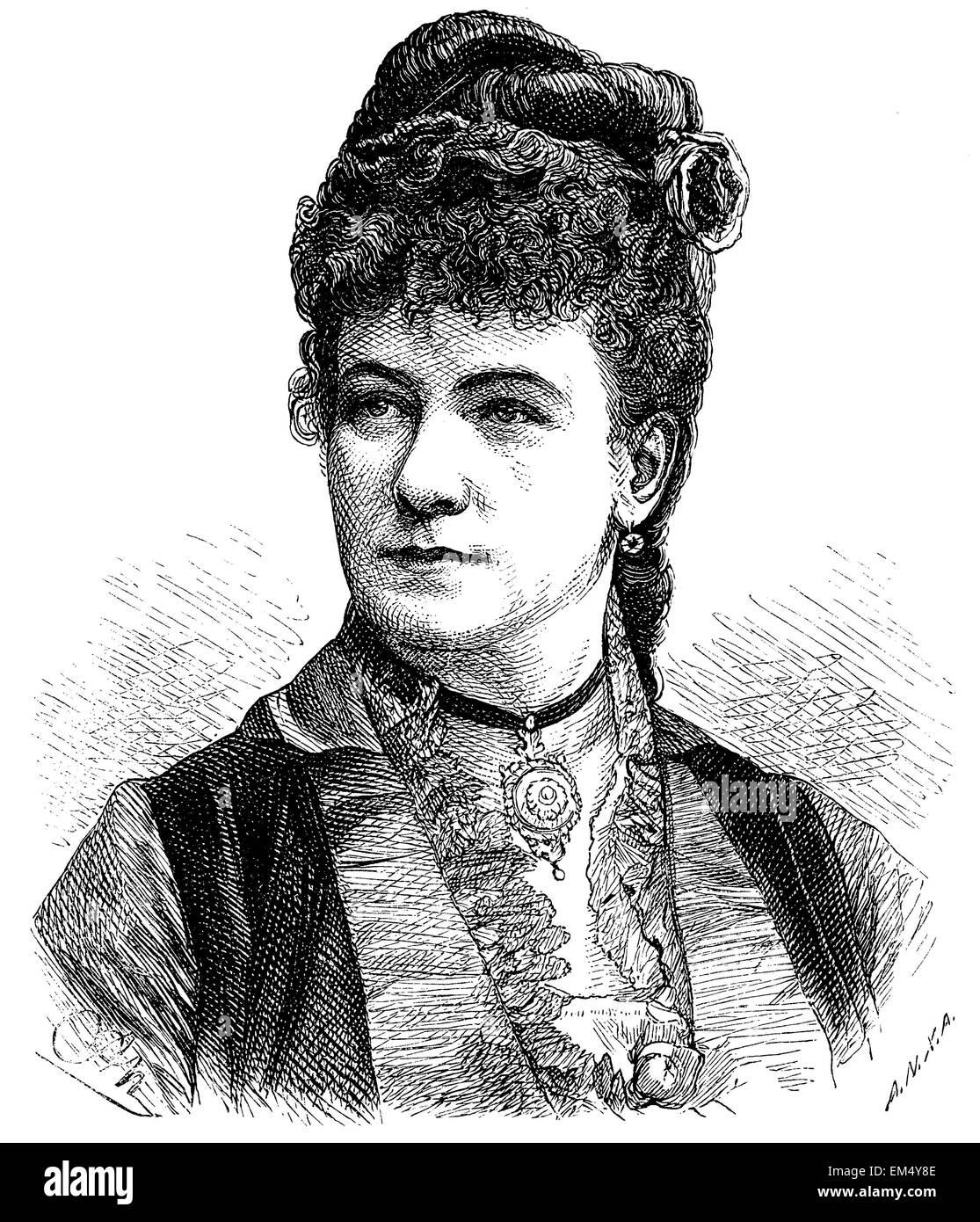 Marie Gesitinger (born July 26, 1828 ) Stock Photo