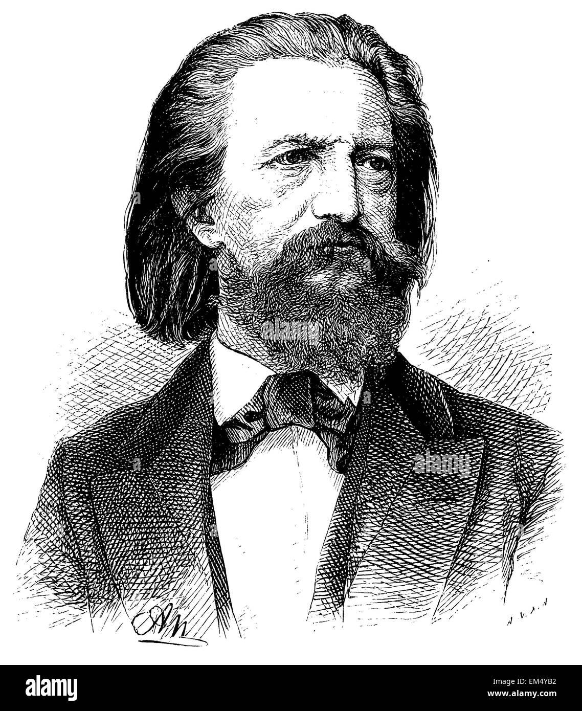 Julius Waldemar Grosse ( born April 25, 1828 ) - Stock Image