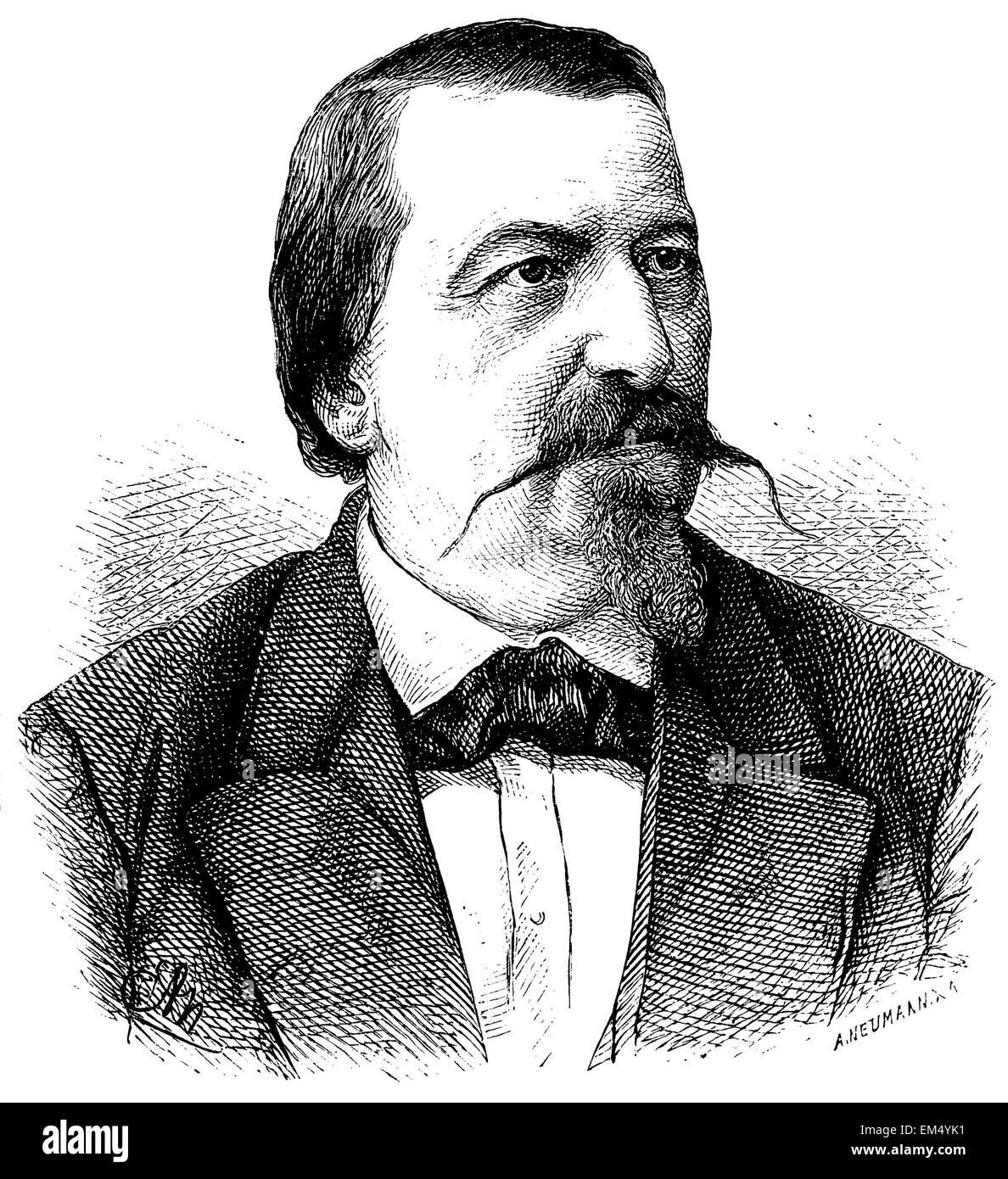 Rudolf von Gottschall (born September 30, 1823 ) Stock Photo